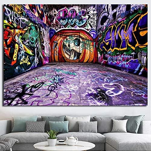 ganlanshu Pintura sin Marco Graffiti Abstracto Lienzo Arte de la Pared póster y Artista de Grabado decoración del hogar sofá de la salaZGQ1856 60X100cm: Amazon.es: Hogar