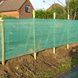 1M X 50M HEAVY DUTY WINDBREAK SHADE NETTING GREEN PRIVACY FENCE WITH EYELETS by Elixir Gardens ®