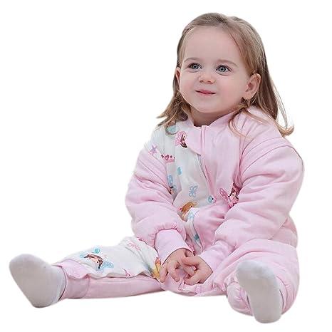 Bebé Saco de dormir con mangas largas con patas Pijama de invierno de baumwollen Niño y