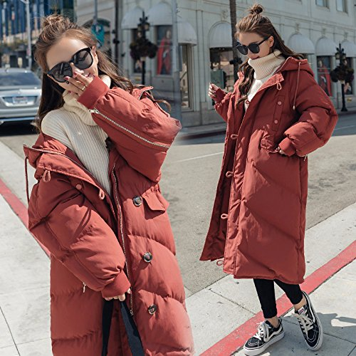 Over Clothing Knee red Winter Jacket Even Harajuku The Cotton Rust Xuanku Is Service Lovely Bread Long Cap Coat Cotton Female vwfp71q