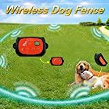 Portable Wireless 2 Dog Fence, NO WIRES TO BURY-800FT Containment System, The 3nd Generation, DT-WLJK3