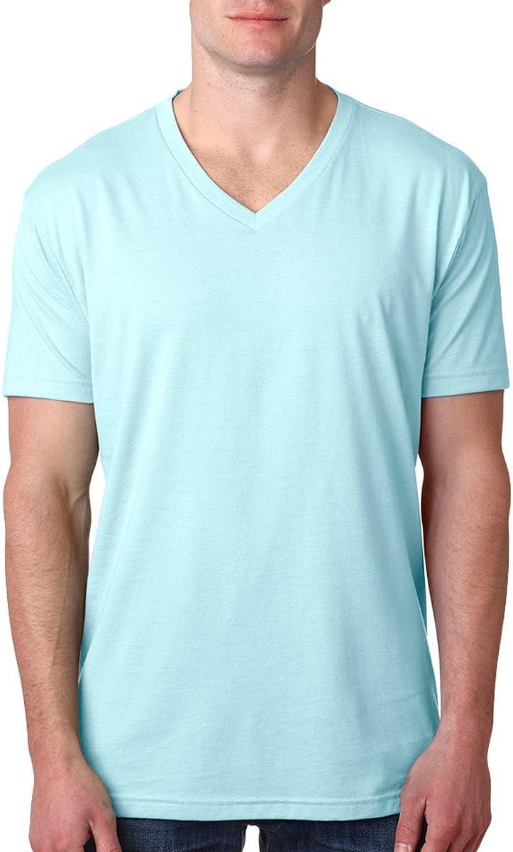 Next Level Mens 60/% Cotton XL Ice Blue 40/% Polyester CVC V-Neck Tee