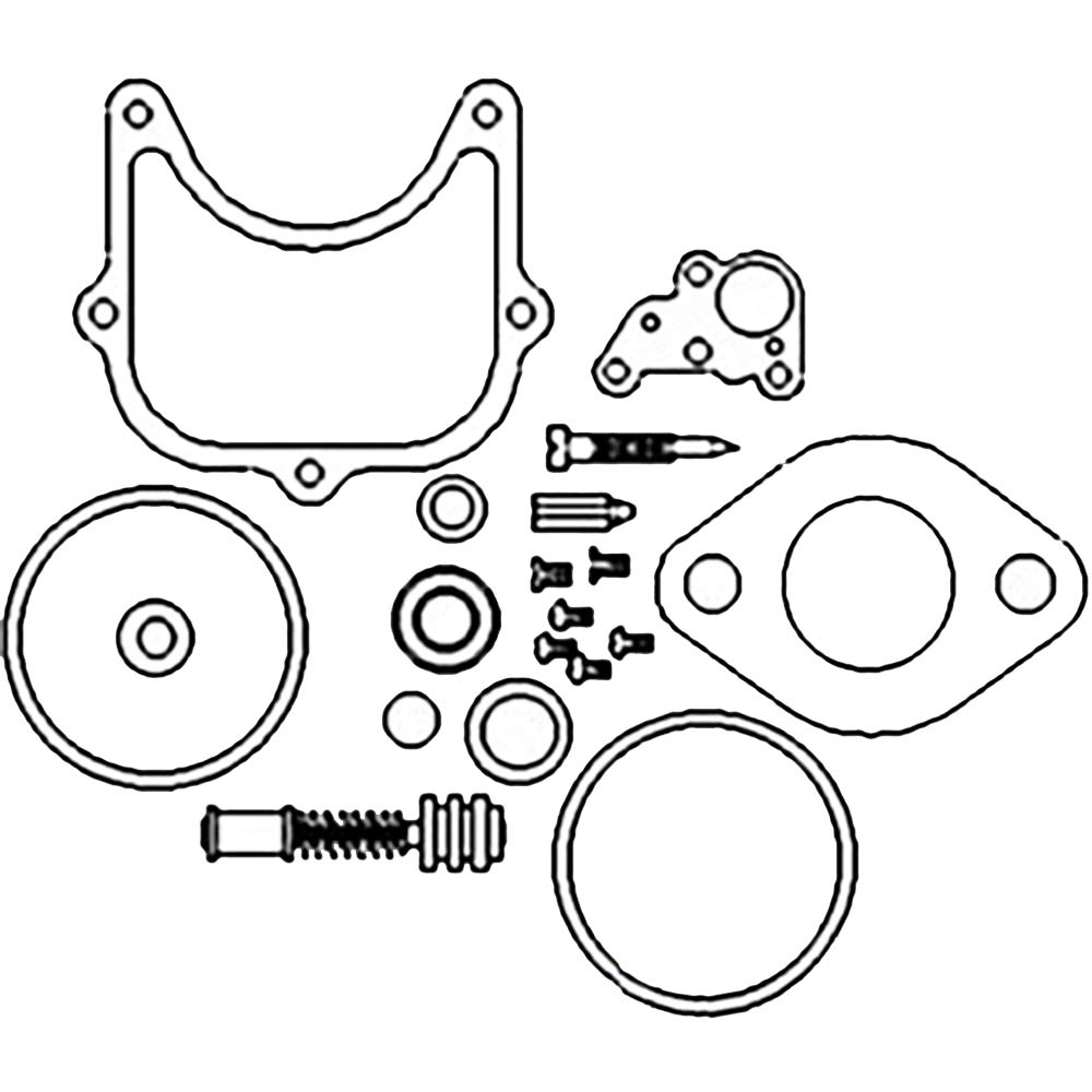 amazon new economy carburetor kit for holley carbs allis 4100 Throttle Linkage Diagram amazon new economy carburetor kit for holley carbs allis chalmers 190 ford 2000 4000 industrial scientific
