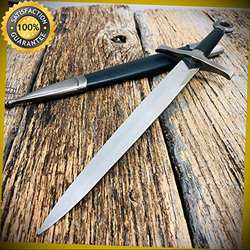 15.5'' MEDIEVAL ORNATE KNIGHT FANTASY DAGGER Sword for Hunting Camping Cosplay