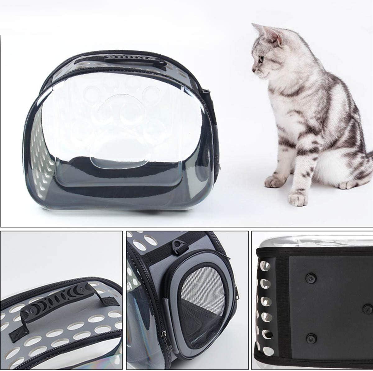 Wallfire Borsa da Trasporto per Animali Domestici Pieghevole Pieghevole Cat Dog Traspirante Universale Travel out Carrier Bag Box Color : Black, Size : S