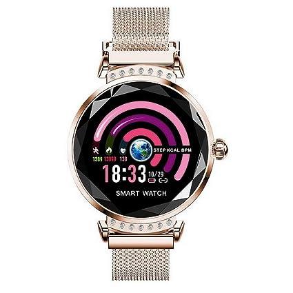 Amazon.com: H2 Smart Watch Women 3D Diamond Glass Heart Rate ...