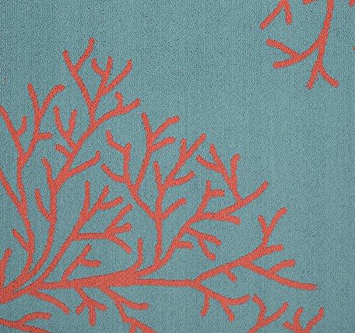 Garland Rug Sea Coral Area Rug, 5 X 7', Teal/Santa Fe