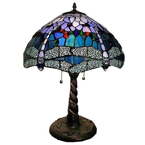 LZQTD Lámparas de Mesa Estilo Tiffany, Sala de Estar Comedor ...
