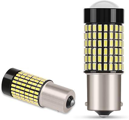 AGPTEK 2x 1156 BA15S P21W Bombillas LED 144 SMD 3014 Coche Luz de ...