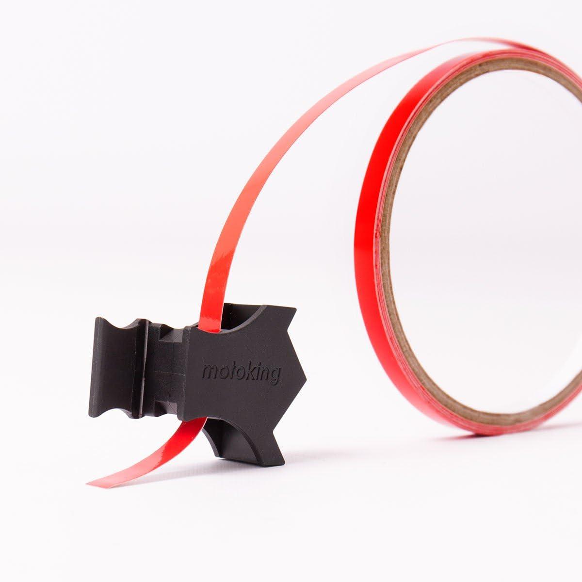Motoking Felgenrandaufkleber mit Montagetool f/ür Ihr Motorrad in REFLEKTIEREND 6 mm//f/ür 10 bis 25 Farbe w/ählbar