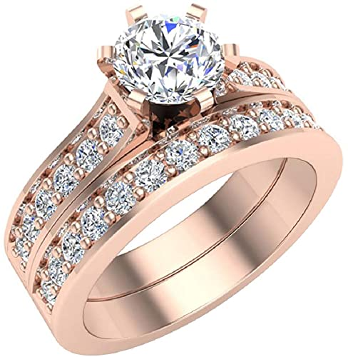 Amazon Com Diamond Wedding Ring Set For Women Bridal Sets 14k