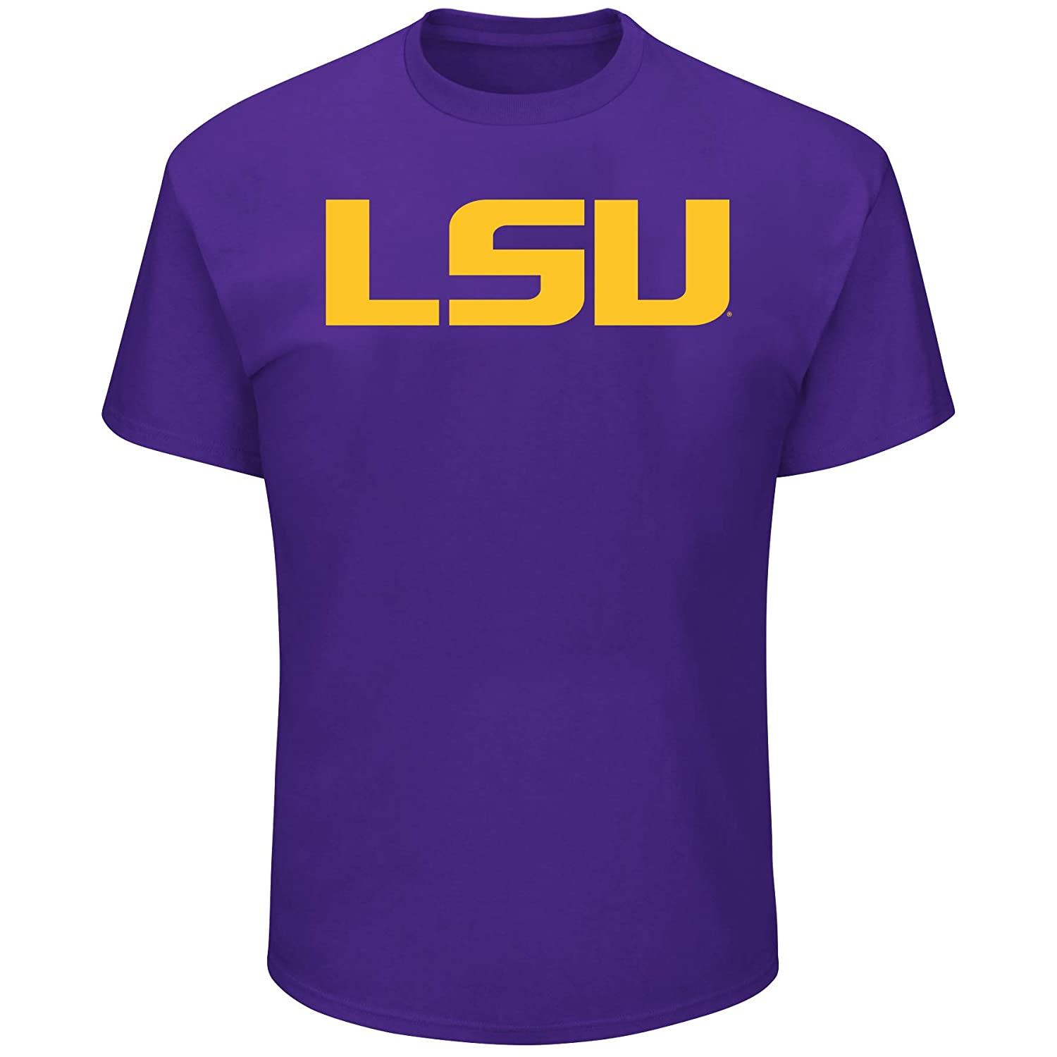 University of LSU Mens Big and Tall Short Sleeve Cotton Tee Shirt Purple  5X