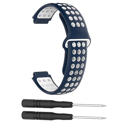 Manyo Correa de Repuesto para Reloj Inteligente Garmin Forerunner 220/230/235/620