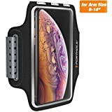 iPhone X/XR/XS Armband,PORTHOLIC Sweat Resistant Sports Armband For Iphone 6/6s/7/8 Plus,Galaxy S6/S7/S8,or Any Screen Up to 6.2 inches With Extension Band,Key&Card Holder,Cable Locker