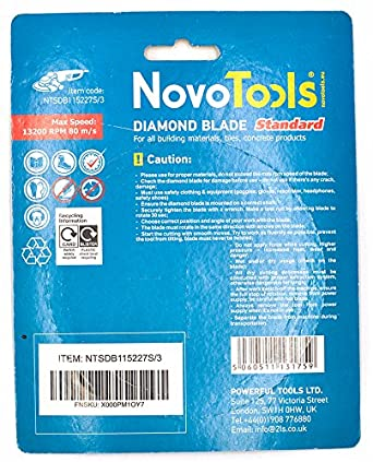 Naturstein Hochwertig 300 mm 115 mm 125 mm Trennscheibe f/ür Beton NOVOTOOLS Diamantscheibe 115 mm Granit Ziegel 1 Stein Set 3 pcs Lintels 230 mm