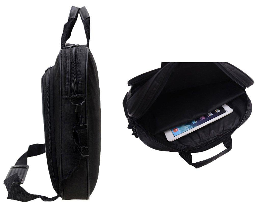 Messenger Bag For 15 Inch Laptop Computer Bag Macbook Shoulder Bag Business Backpack College Bookbag Travel Business Backpack Black Bag by FL Margaret (Image #6)
