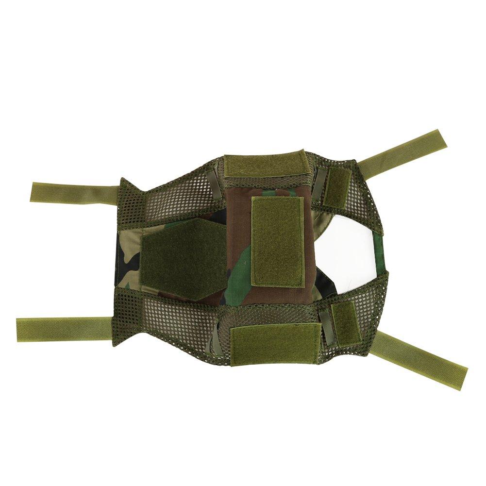 Woodland Camo ATAIRSOFT Airsoft Tactical Housse pour Casque Type PJ//BJ MH avec Poche Arri/ère