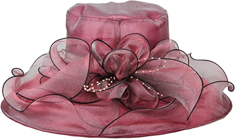 Womens Organza Church Kentucky Derby Beach Fascinators Hat Bridal Tea Party Fancy Wedding Hat
