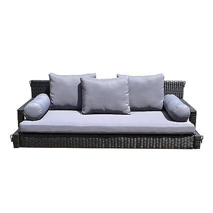 Amazon Com Prolinemax Style 22 Black 78 Patio Porch Swing Bed