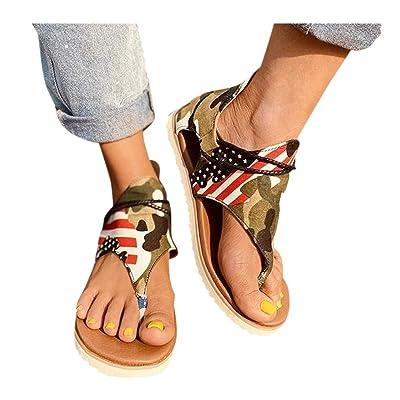 Sandal for Womens Posh Gladiator Sandals Summer Casual Sandals Premium Elegant Flat Heel Back Zipper Flats Shoes: Clothing [5Bkhe0503776]