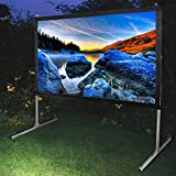 Instahibit 100'' Portable Fast Folding Projector Screen 16:9 HD with Stand and Carry Bag for Indoor Outdoor