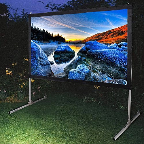 Instahibit 100'' Portable Fast Folding Projector Screen 16:9 HD with Stand and Carry Bag for Indoor Outdoor by Instahibit