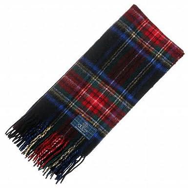 Clans of Scotland Noir Stewart Tartan Écharpe – écossais Laine Clan écharpes,  Rouge adfd4704dd2