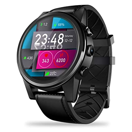 4459ad3e2 PQFYDS GPS Smartwatch, Zeblaze Thor 4 PRO 4G Smart Watch 1.6 inch Crystal  Display GPS