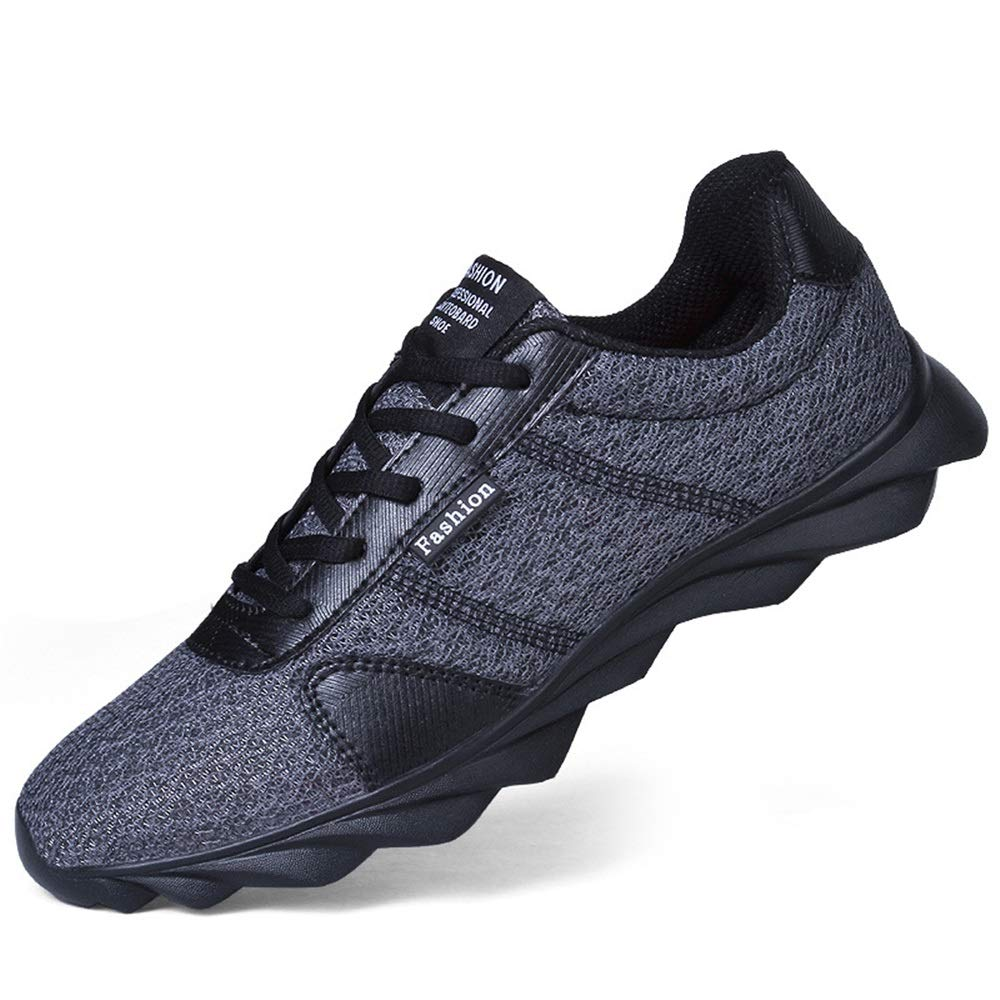 Qiusa Atmungsaktiver dauerhafter Sport der Männer beschuht weiche alleinige Komfort-Nicht Beleg-Sport-Schuhe (Farbe   Grau, Größe   EU 46)