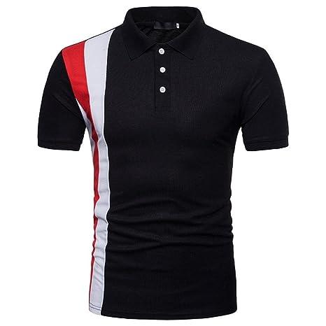 Beikoard Camiseta y Polos Basica, Camisas Manga Corta Hombre Moda de los Hombres de Manga