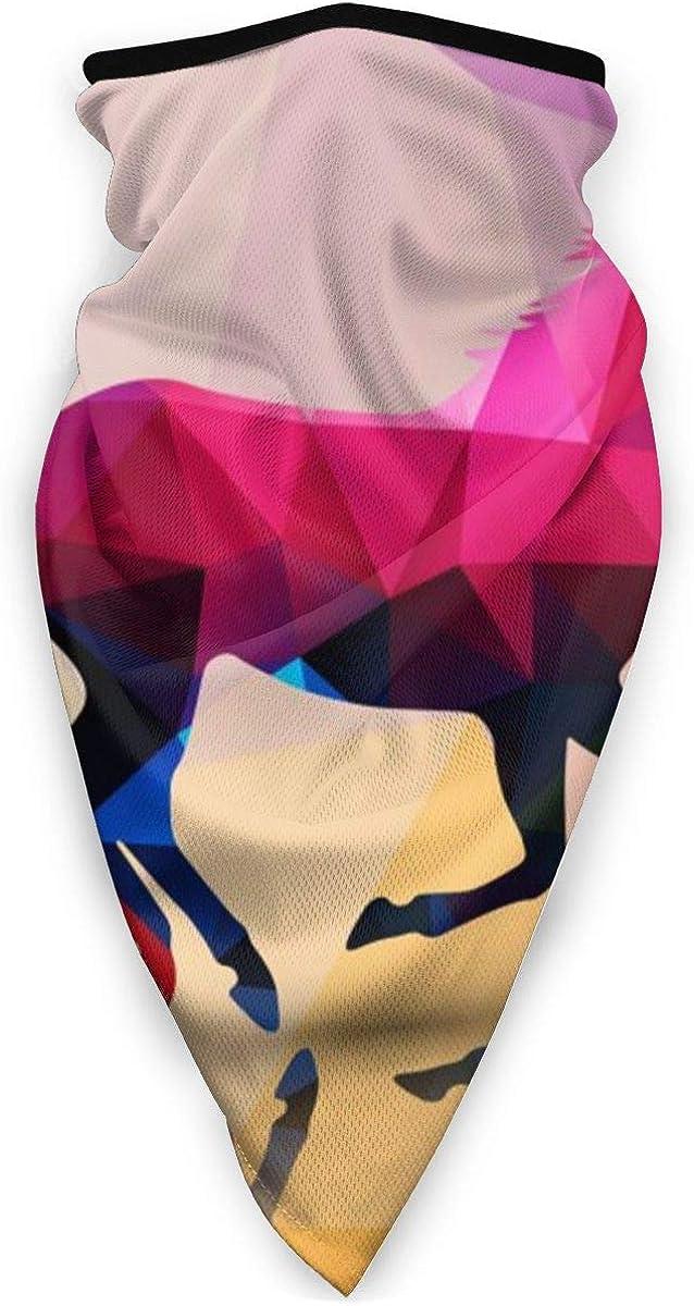 Horse Made Polygons Background Neck Gaiter Dust Sun Protection Face Cover Balaclava Sports Headwear Works As Scarf Headband Bandana Face Mask