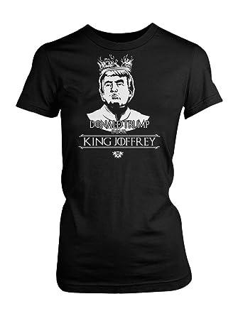c83b76cd7d5 Amazon.com  LOGOPOP Women s Donald Trump is Our King Joffrey T-Shirt   Clothing
