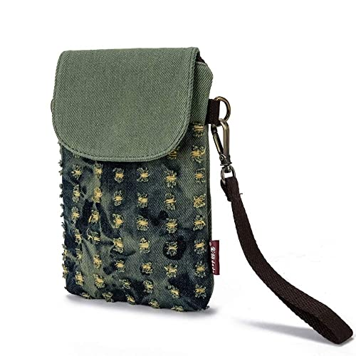 5fd9c671cd83 Cell Phone Bag Women Girls Small Crossbody Purse Canvas Wallet Wristlet  Handbag Loose Change Pouch with