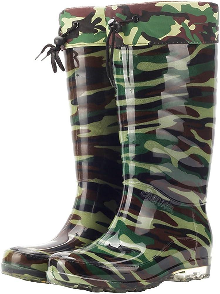 zpllsbratos Bottes Caoutchouc Homme Camouflage Bottes de Pluie Imperm/éable Jardin Wellington Boots