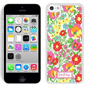 Lilly Pulitzer 06 White iPhone 5C Screen Cover Case Elegant and Fashion Look