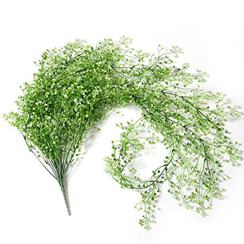 Sunrisee 41.3 Artificial Hanging Vine String Fake Plant for Home Garden Wall Decoration, 1 Pack (White)