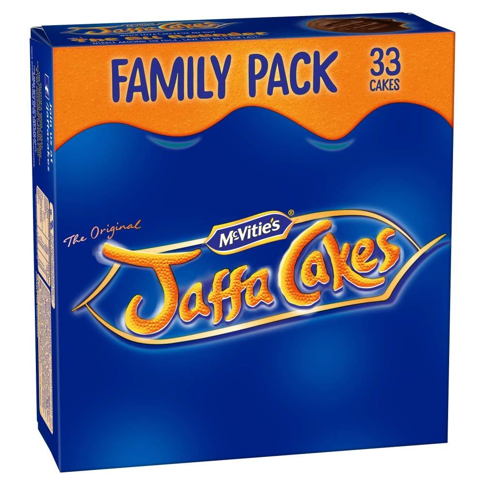 Original McVitie's Jaffa Cakes Big Pack Imported From The UK England The Very Best Original British Jaffa Cakes A Genoise Sponge Base Layer Of Orange Flavored Jam Coating Of SpongeMc Vities Jaffa Cak