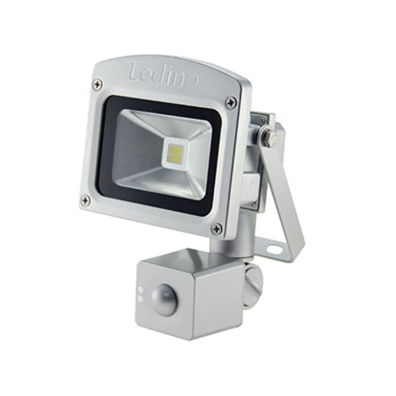 WarmWeiß Ledino LED-Flutlichtstrahler, HF-Sensor, 10 Watt Epistar-LED, Silber Warmweiß