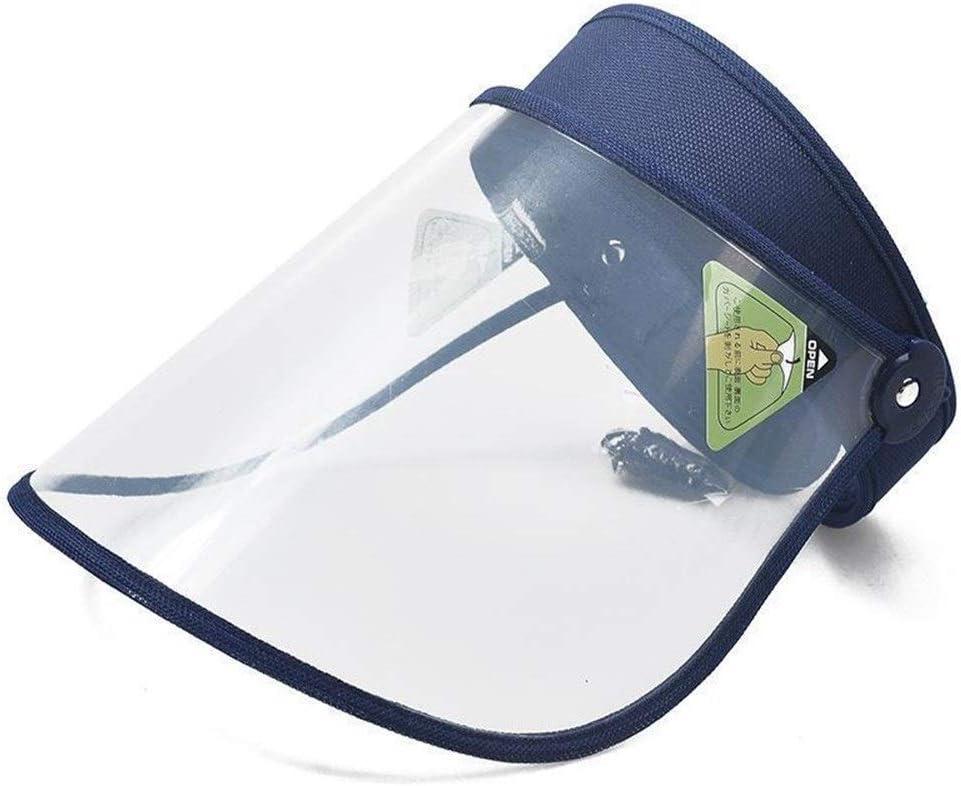 CHENXJ Anti-niebla transparente máscara de protección, Cocina anti-humo, lluvia Una cortina de Sun del sombrero, máscara facial Protección de los ojos (Color : Blue)