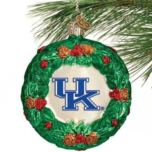 NCAA Kentucky Wildcats Glass Wreath - Kentucky Wreath Wildcats