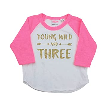 Amazon Girl Third Birthday Shirt Pink And Gold