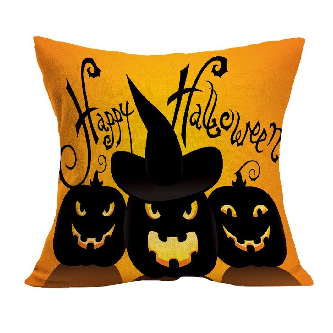 Gotd Halloween Decorations Decor Halloween Throw Pillow Case Sofa Waist Throw Cushion Cover Home Decor Square 45cm x 45cm 18inch x 18inch (#2)