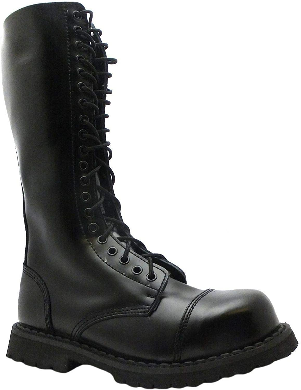 Grinders KingCS Men/'s Safety Steel Toe Cap Black Military Styles Lace up Boots