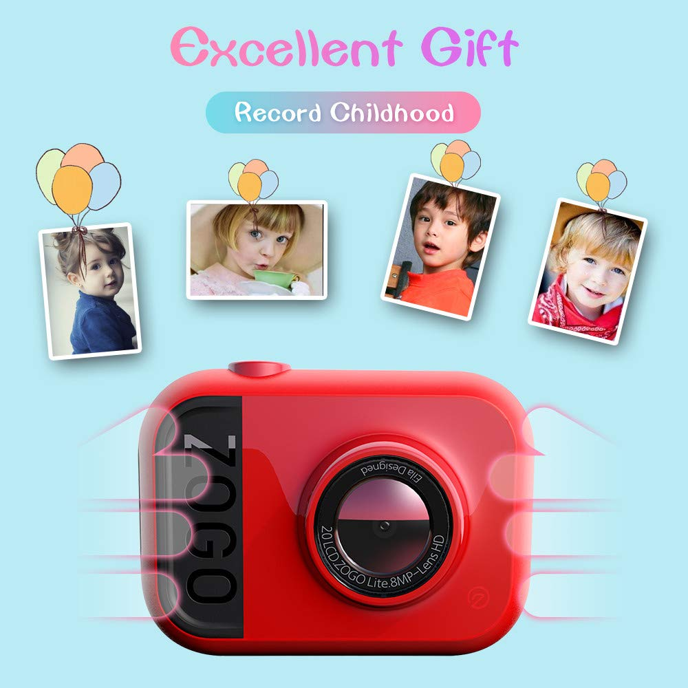 HDST Kids Camera with Built-in Memory Card Toys Gifts for 4~8 Years Old Girls, Shockproof Kids Video Camera & Camcorder with Soft Silicone Shell for Outdoor Play, Pink by HDST (Image #6)