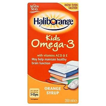 Haliborange Omega-3 Con El Jarabe De Vitaminas De Naranja (200ml) (Paquete de 2): Amazon.es: Hogar