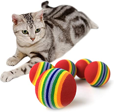 yalulu juguete para perros, gatos, 10 pieza musgo pelota de goma ...