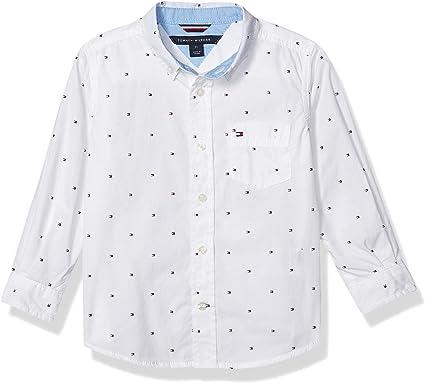Tommy Hilfiger Ellison - Camisa de manga larga para niño - - Large: Amazon.es: Ropa y accesorios