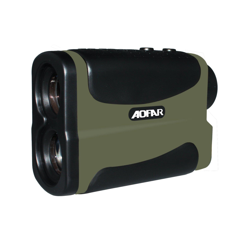 AOFAR 700 Yards 6X 25mm Laser Rangefinder Hunting Golf, Measurement Range Finder Speed Scan Fog