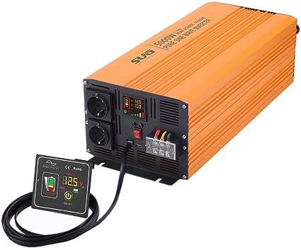 Sug 5000w Dc 24v Auf Ac 220v 230v Wechselrichter Reiner Sinus Spitzenwert 10000w Spannungswandler Mit Fernbedienung Power Inverter Pure Sine Wave Auto