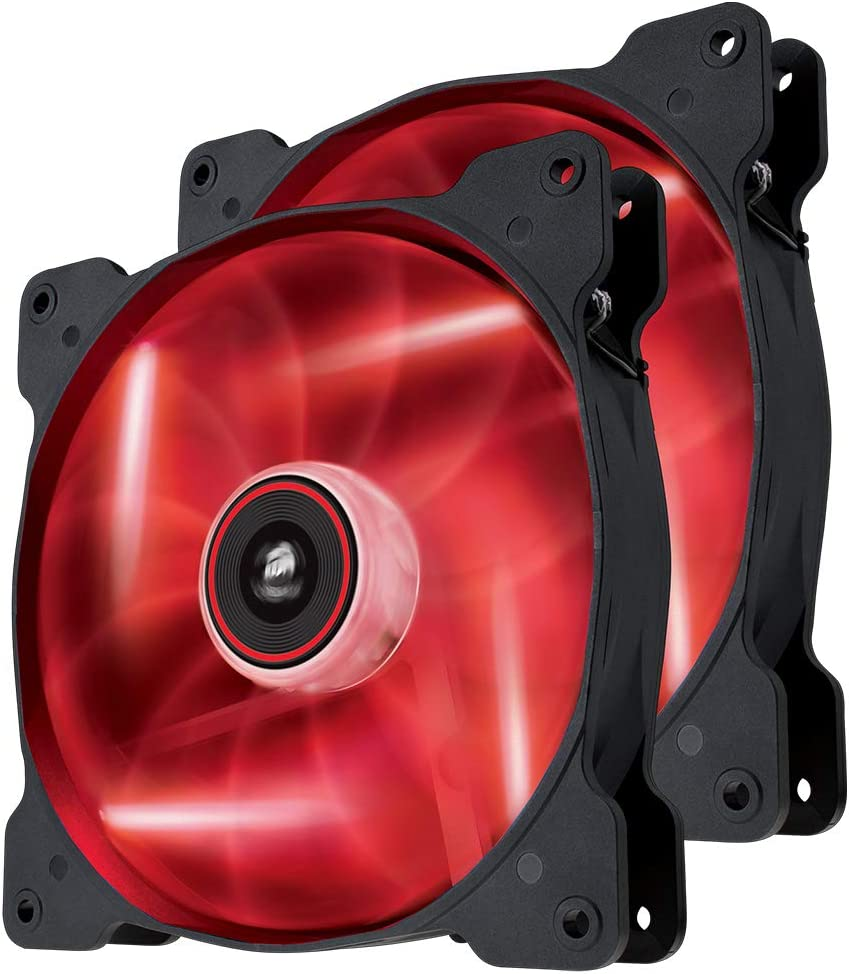 Corsair SP140 LED Ventilador de PC (140 mm, iluminación LED Rojo) Paquete Doble